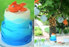 little fish birthday party with snack ideas for kids and adults