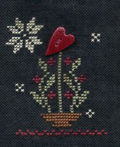 Garden Grumbles and Cross Stitch Fumbles: Stone and Thread- Love Grows