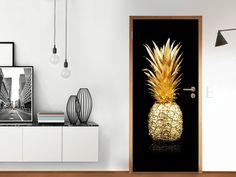 Designfolie Goldenes Früchtchen für deine Tür Groß außen (86 x 198,5 cm) #Türfolie #Türdekoration #Ananas