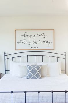 Ruth wood sign, available on my Etsy! Personalized Wood Signs, Custom Wooden Signs, Bedding Master Bedroom, Bedroom Decor, Rustic Headboard Diy, Ruth 1 16, Above Bed, Classic House, Wall Hanger