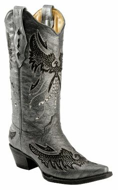 Corral Women's Metallic Bedecked Eagle Inlay Cowgirl Boot Snip Toe Black 11 M US Corral Boots,http://www.amazon.com/dp/B00DZ4YIOW/ref=cm_sw_r_pi_dp_w-V2sb038RJV7AW9