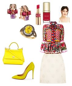 Dolce vita with chocolate taste from Levian by unabulgara on Polyvore featuring polyvore, fashion, style, Dolce&Gabbana, Valentino, Christian Louboutin, LE VIAN, Lime Crime, Yves Saint Laurent and clothing