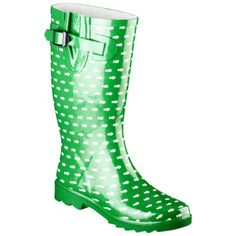 Women's Merona Zaney Polka Dot Rain Boots 77