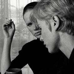 Bibi Andersson and Liv Ullmann in Persona (Ingmar Bergman, Bergman Movies, Bergman Film, Cinema Movies, Film Movie, First Art, Persona Ingmar Bergman, Persona 1966, Old School Film, Movie Screenshots