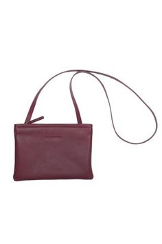 MARIMEKKO PIKKUSERKKU 2 LEATHER BAG WINE RED  #wine #burgundy #red #purple #leather #bag #purse #crossbody #marimekko #pirkkoseattle #pirkkofinland