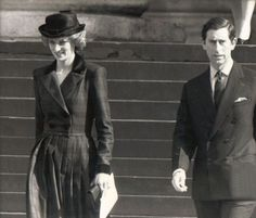 The Prince And Princess Of Wales Together 6th March 1985 at St Paul's Cathedral
