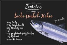 Rezept: Lachs-Dinkel Kekse für Hunde