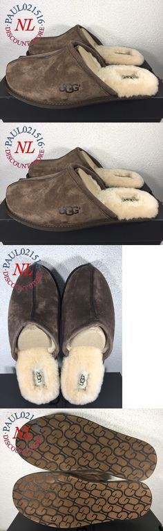 d8cff1ce2cc Slippers 11505  Nib Ugg Australia Men S Ascot Suede Shearling Slippers  Chestnut Blue Limited! -  BUY IT NOW ONLY   79.95 on  eBay  sl…