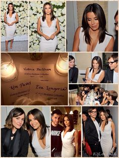 They've been friends for a number of years, so it's little wonder that Eva Longoria would go out of her way to support Victoria Beckham at the latest fashion launch.  The Hollywood actress, 40, attended the dinner, along with David Beckham, to celebrate the Victoria Beckham collection at Fred's at Barneys on Tuesday evening, in Beverly Hills, California.  Eva looked incredible as she showed off her cleavage in one of Victoria's creations, a grey fitted midi dress with a plunging neckline.