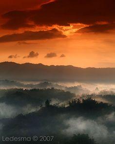 Mist rising in Taiwan