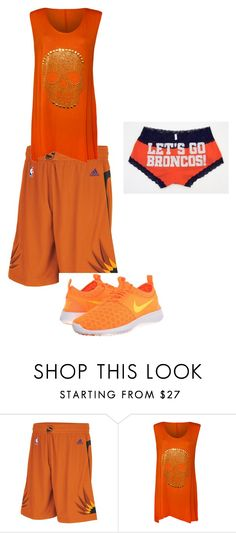 """""""Orangee!!!!!!!"""" by daisy-owens on Polyvore featuring adidas, WearAll and NIKE"""