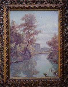 Silvio Travaglia – Paesaggio fluviale Italian Paintings, Art, Art Background, Kunst, Art Education