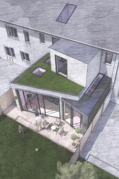 House Extension Plans, Building Extension, Extension Designs, House Extension Design, Roof Extension, Extension Ideas, Architecture Models, Planning Permission, Property Development