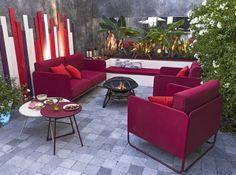 Salon de jardin design framboise