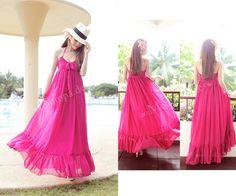 pink maxi dress summer 2013