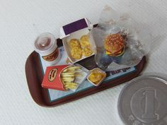 Mini fast food tray