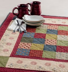 Martingale - Patchwork Loves Embroidery (Print version + eBook bundle) Hand Embroidery Projects, Hand Embroidery Designs, Quilting Projects, Machine Embroidery, Sewing Projects, Table Runner And Placemats, Quilted Table Runners, Small Quilts, Mini Quilts