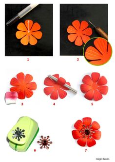 Orange Flower Tutorial
