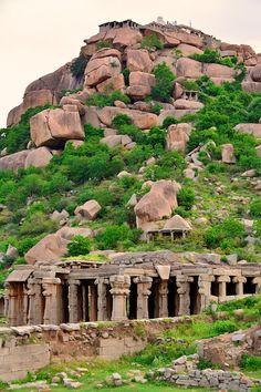 Hampi, Hampi, India - Temple ruins at Hampi in Karnataka, India