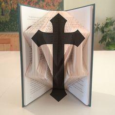 Folded Book Art: Cross by DIYMarta by PompandWhimsy on Etsy