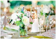 Gorgeous green wedding tablescape
