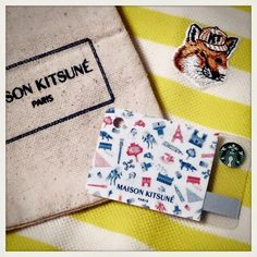 GQ Japan September x Maison Kitsune  Starbucks card designed by Maison Kitsune