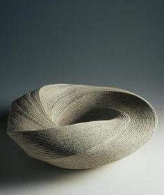 """Listening to Waves"" vase, Heisei period 2004 Sakiyama Takayuki (Japanese, born 195 Ceramic Clay, Ceramic Pottery, Pottery Art, Slab Pottery, Pottery Studio, Ceramic Bowls, Japanese Ceramics, Japanese Pottery, Sculptures Céramiques"