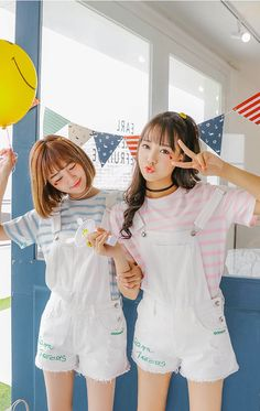 Best Friend Outfits, Best Friend Photos, Couple Outfits, Friend Pictures, Ulzzang Fashion, Ulzzang Girl, Korean Fashion, Cute Korean, Korean Girl