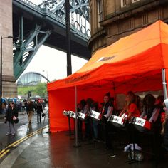 Big crowds already in their masses on the Quayside being entertained