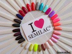 baseveheinails: Moja kolekcja lakierów hybrydowych Semilac - Porównanie kolorów na wzorniku :)