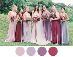 berry-wine-lilac-bridesmaid-dresses