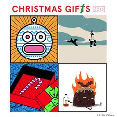If It's Hip, It's Here: Animated Christmas Gifs By Various Artists Bring The Holiday To Life.