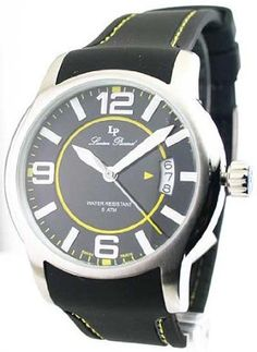 Lucien Piccard 28163YL Men's Rubber Strap Date Watch *** Want additional info for the watch? Click on the image.