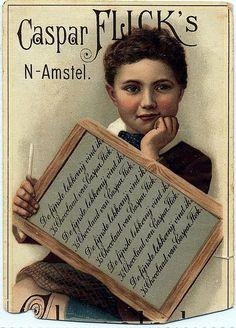 Victorian boy chocolate trade card
