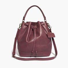 Madewell Lafayette Bucket Bag In Dark Cabernet