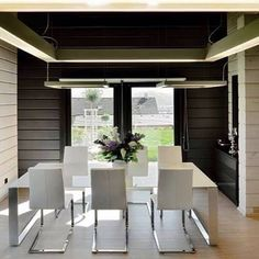 @ Le chic et le luxe des maisons bois Kontio Architecture Durable, House Made, Made Of Wood, House In The Woods, Log Homes, Scandinavian Style, Ground Floor, Terrace, Photo Galleries