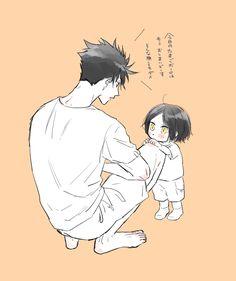 Little kenma is so cute❤️❤️❤️ Kuroo Haikyuu, Haikyuu Manga, Kuroo Tetsurou, Haikyuu Funny, Haikyuu Fanart, Anime Chibi, Tsukkiyama, Anime Family, Dibujos Cute