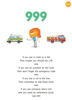 A unique poem created for activities during World First Aid week. Share the poem with your children when learning about what to do in an emergency.
