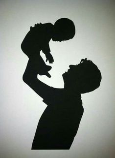 Parent and Child Hand Cut Custom Silhouette by PaperPortraits Baby Silhouette, Silhouette Portrait, Fathers Day Quotes, Fathers Day Crafts, Happy Fathers Day, Smal Tattoo, Father Tattoos, Small City Garden, Kids Hands