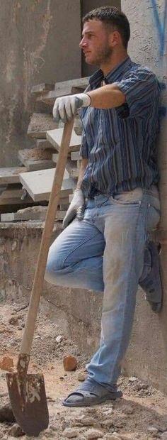 Working Man, Male Models, Craftsman, Sexy, Boyfriends, Construction, Random, Jeans, Hot