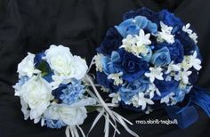 Wedding Flowers Navy Blue