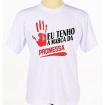 Camisa Deus Jesus Evangélica Gospel Frases Marca Da Promessa                                                                                                                                                                                 Mais