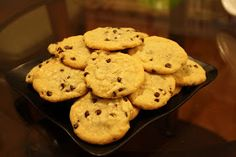 Butter free chocolate chip cookies to try,... not because I'm against butter, but because it's really nice to have recipes you can still do despite being out of certain grocery essentials