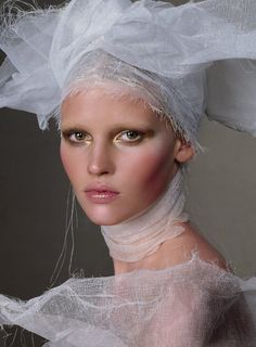 Lara Stone by Steven Meisel for Vogue, March 2010 / makeup: Pat McGrath