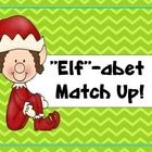 Elf themed letter identification activity for upper and lowercase letters