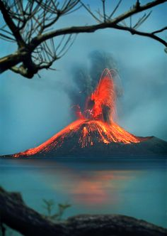 Krakatoa, or Krakatau, in the Sunda Strait between the islands of Java and Sumatra in Indonesia. - Visit http://asiaexpatguides.com and make the most of your experience in Asia! Like our FB page https://www.facebook.com/pages/Asia-Expat-Guides/162063957304747 and Follow our Twitter https://twitter.com/AsiaExpatGuides for more #ExpatTips and inspiration!
