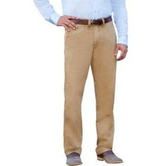 George Men's Everyday Wash Chinos, Size: 36 x 34, Brown