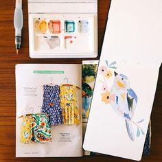 Montuethree features Miniboden prints. April 2015.