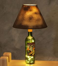 *DIY Wine Bottle Lamp