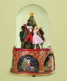 Create the perfect winter wonderland in your home with the Roman Musical Nutcracker Ballet snow globe . This cheery snow globe plays the nutcracker ballet and features spirited details that shine thro Christmas Snow Globes, Nutcracker Christmas, Nutcracker Music, Yule, Ballet Decor, Musical Snow Globes, Water Globes, Glass Domes, Christmas Inspiration